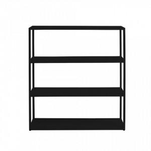 Etajera neagra din metal 110 cm Hyller Custom Form