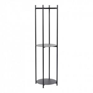 Etajera neagra din metal 152 cm Black Shelves Hubsch