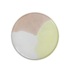 Farfurie ceramica galbena si roz 18,5 cm Gallery HK Living