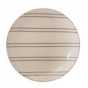 Farfurie crem  din ceramica 25 cm Ava Bloomingville
