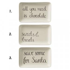 Farfurie dreptunghiulara ceramica 12x19 cm Chocolate Bloomingville