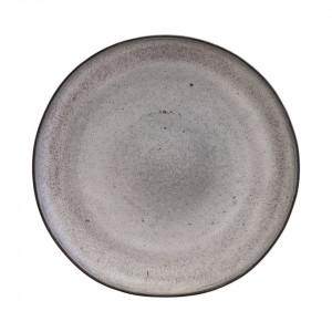 Farfurie gri din ceramica pentru prajituri 22 cm Stone Nicolas Vahe
