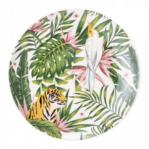 Farfurie multicolor din ceramica 20 cm Bloomingville