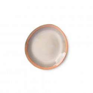 Farfurie multicolora din ceramica 22 cm Earth Side HK Living
