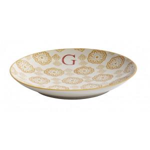 Farfurie pentru desert multicolora din ceramica 20 cm G Letter Nordal