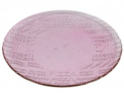 Farfurie roz din sticla 33 cm Pizza Pink Santiago Pons