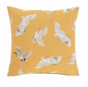 Fata de perna galben/alba din textil impermeabil 45x45 cm Lungile La Forma