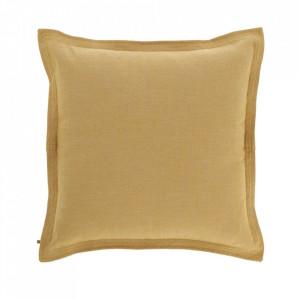 Fata de perna galbena din textil 60x60 cm Maelina La Forma