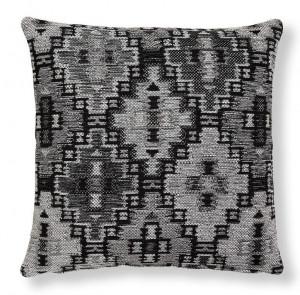 Fata de perna gri/neagra din textil 45x45 cm Cuzco Combination Dark Grey La Forma
