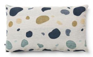 Fata de perna multicolora din textil 30x50 cm Marais Beige La Forma