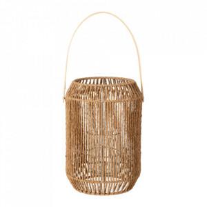 Felinar maro din bambus si sfoara 31,5 cm Jenel Ixia