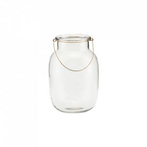 Felinar transparent din sticla 28 cm Frej House Doctor