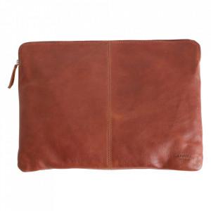 Geanta maro coniac din piele de bivol pentru laptop 28x38 cm Camel Raw Materials