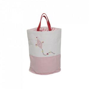 Geanta roz din bumbac pentru depozitare Kite Bloomingville