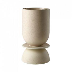 Ghiveci bej nisipiu din ceramica 16 cm Hour Bolia