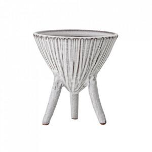 Ghiveci decorativ alb din teracota 15 cm Azelia Creative Collection