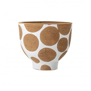 Ghiveci decorativ maro/alb din teracota 28 cm Dana Creative Collection