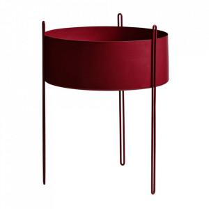 Ghiveci rosu din metal 40 cm Pidestall Woud