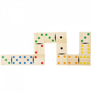 Joc domino multicolor din lemn de pin Giant Small Foot