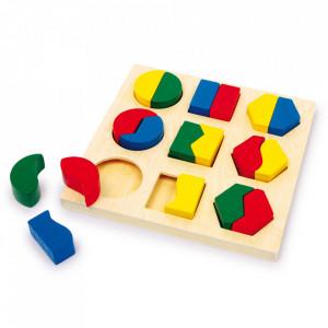 Joc tip puzzle 18 piese din lemn Shape Small Foot