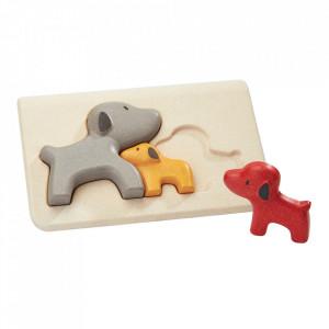Joc tip puzzle multicolor din lemn Dog Plan Toys