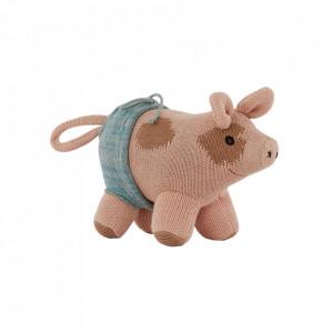 Jucarie multicolora din bumbac Hugo Mini Pig Oyoy