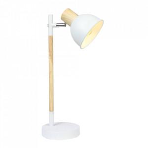 Lampa birou alba/maro din otel 42 cm Bondo Candellux