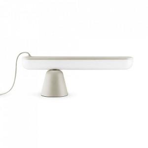 Lampa birou bej nisipiu din plastic acrilic cu LED 16 cm Acrobat Normann Copenhagen