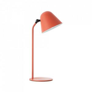 Lampa birou maro teracota din metal 49 cm Connie Brilliant