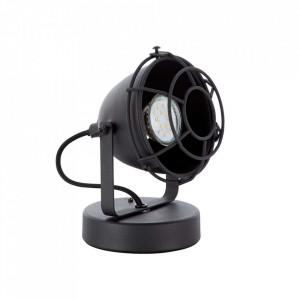 Lampa birou neagra din metal 17 cm Carmen Brilliant