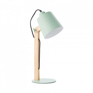 Lampa birou verde/maro din metal si lemn 51,5 cm Swivel Brilliant