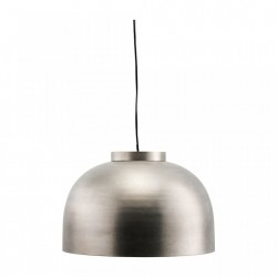 Lampa suspendata argintie din metal Bowl Gunmetal XL House Doctor