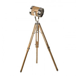 Lampadar ajustabil maro/argintiu din lemn si metal 162 cm Industrial Giner y Colomer