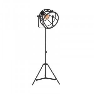 Lampadar ajustabil negru din metal 170 cm Fuse LABEL51