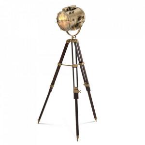 Lampadar auriu/negru din inox si fier 185 cm Atlantic Eichholtz