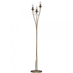 Lampadar maro alama din metal cu 3 becuri 164 cm Roza Aldex