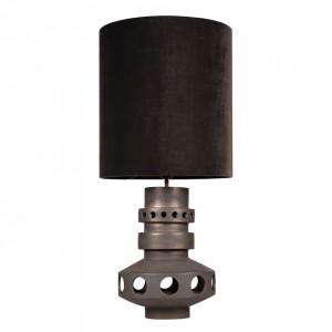Lampadar maro bronz din textil si ceramica cu 2 becuri 98 cm Unfo Versmissen