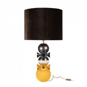 Lampadar maro bronz/galben din textil si ceramica 86 cm Datoga Versmissen