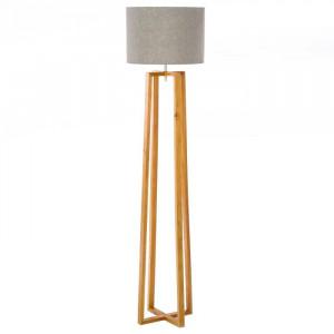 Lampadar maro/gri din lemn si in 149,5 cm Cary Unimasa