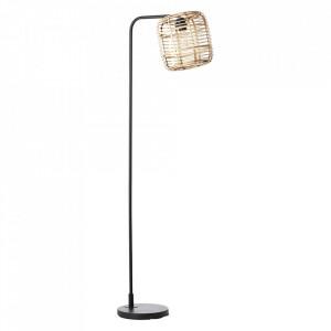 Lampadar maro/negru din lemn si metal 152 cm Crosstown Brilliant