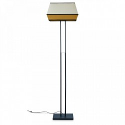 Lampadar multicolor din metal si rafie 152 cm Mandarin Honey Opjet Paris