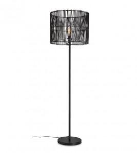 Lampadar negru din bambus si metal 152 cm Coastal Floor Markslojd