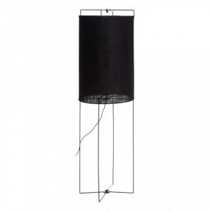 Lampadar negru din fier si in 135 cm Fabia Ixia