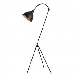 Lampadar negru din otel 143 cm Deby Custom Form