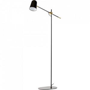 Lampadar negru/maro alama din metal 140 cm Bureau Floor Black Bolia