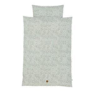 Lenjerie de pat bumbac verde 100x140 cm Junior Dot Ferm Living