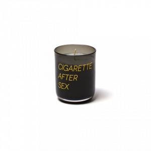 Lumanare cu suport negru din sticla 7 cm Cigarette After Sex Seletti