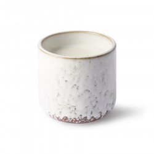 Lumanare parfumata cu suport alb/crem din ceramica si ceara 10 cm Northern Soul HK Living