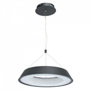 Lustra neagra/alba din metal si plastic cu LED Omega Matt Black MW Glasberg