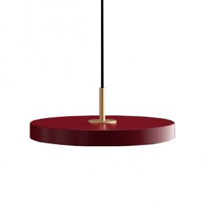 Lustra rosu rubin/aurie din plexiglas si otel Asteria Mini Umage